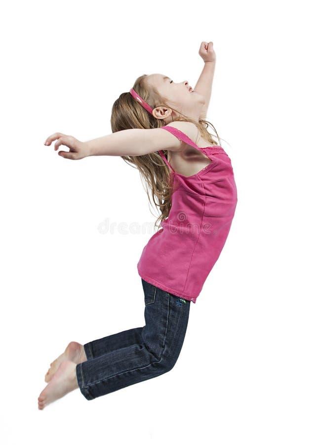 Het springen van het meisje stock foto