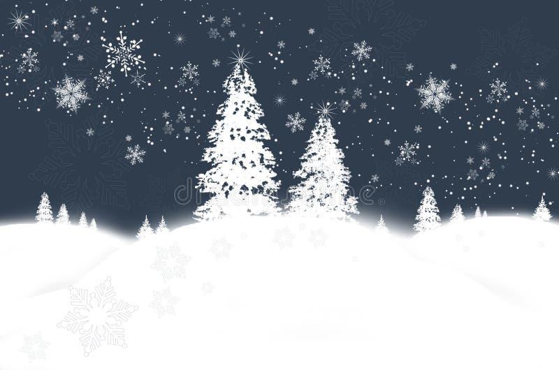 Het sprookjesland van de winter royalty-vrije illustratie