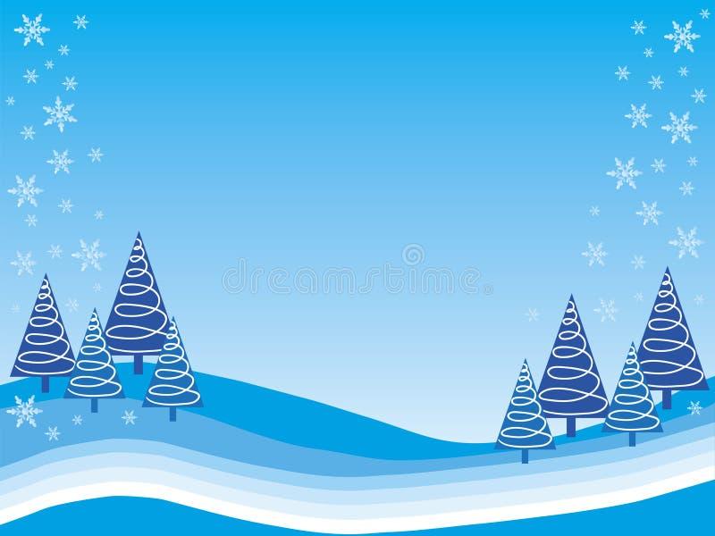 Het sprookjesland van de winter stock illustratie