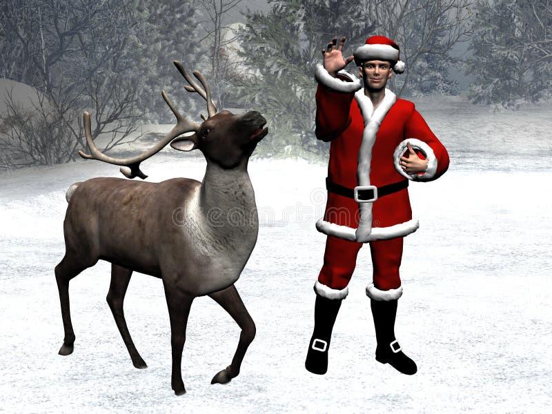 Het sprookjesland van de winter, Kerstmis, de Kerstman royalty-vrije illustratie