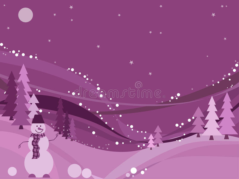 Het sprookjesland van de winter, vector royalty-vrije illustratie
