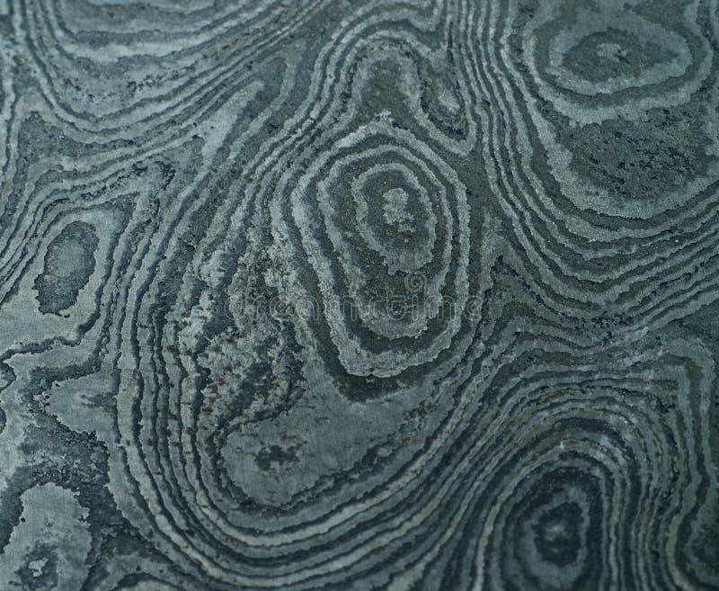 Het staal van Damascus met origineel patroon - gesmeed metaal royalty-vrije stock fotografie