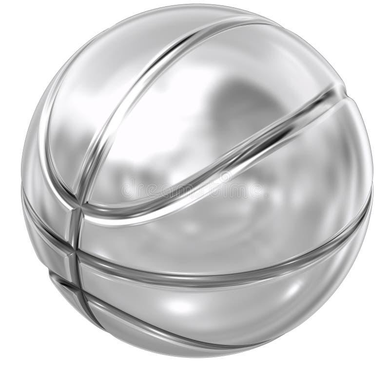 Het staal van het basketbal stock illustratie