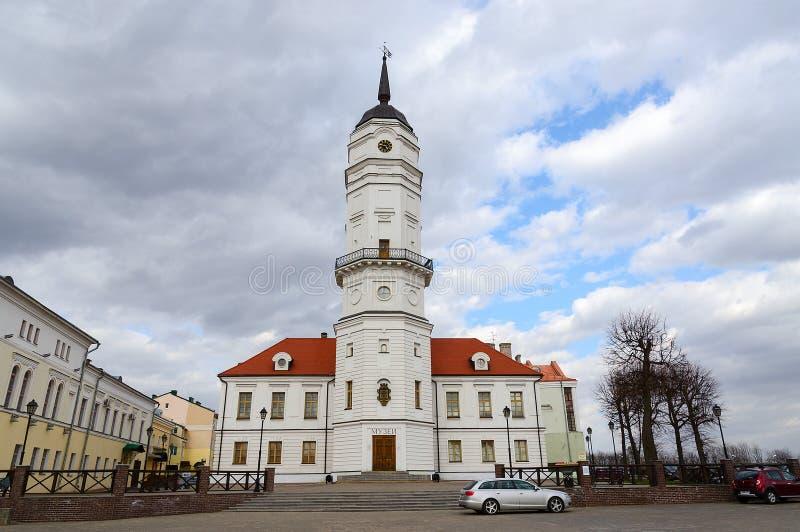 Het Stadhuis, Mogilev, Wit-Rusland royalty-vrije stock foto's