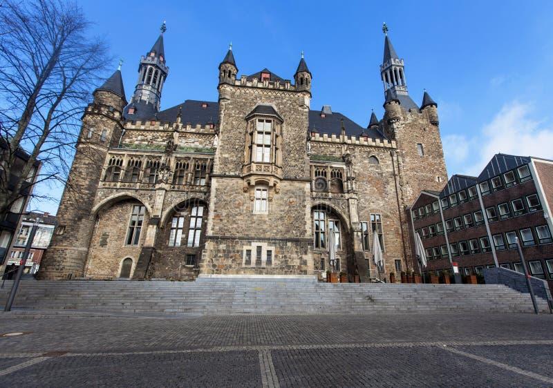 Het Stadhuis van Aken In Duitsland stock afbeelding