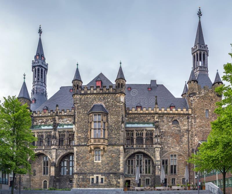 Het stadhuis van Aken Rathaus, Duitsland stock afbeeldingen