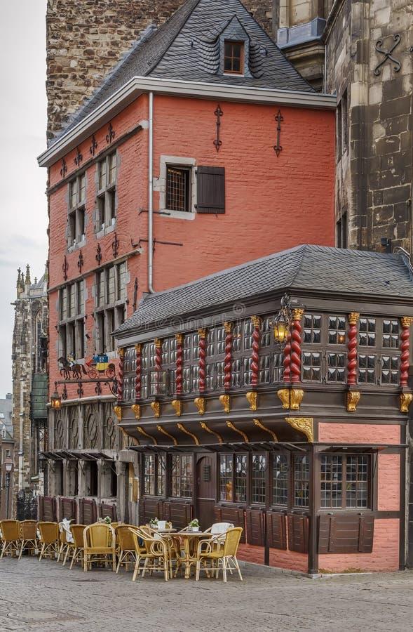 Het stadhuis van Aken Rathaus, Duitsland stock fotografie