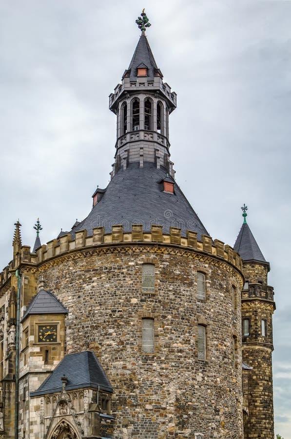Het stadhuis van Aken Rathaus, Duitsland stock afbeelding