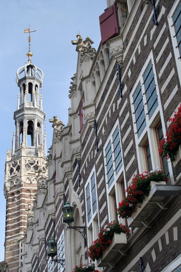 Het Stadhuis van Alkmaar stock afbeeldingen