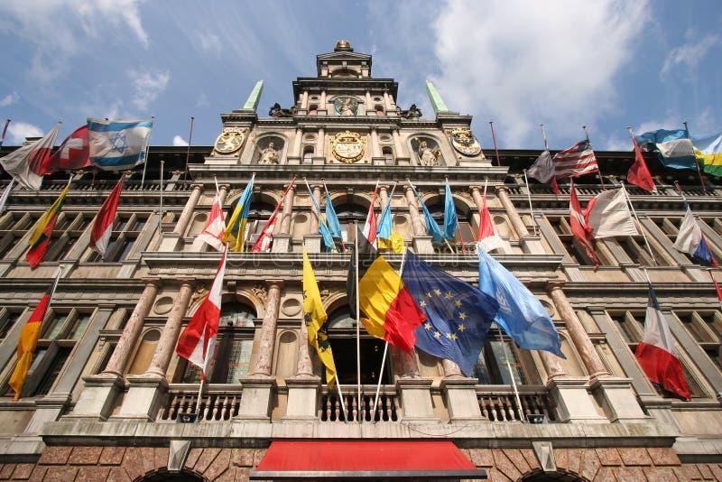 Het Stadhuis van Antwerpen stock afbeelding