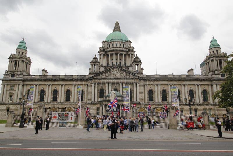 Het stadhuis van Belfast stock afbeeldingen