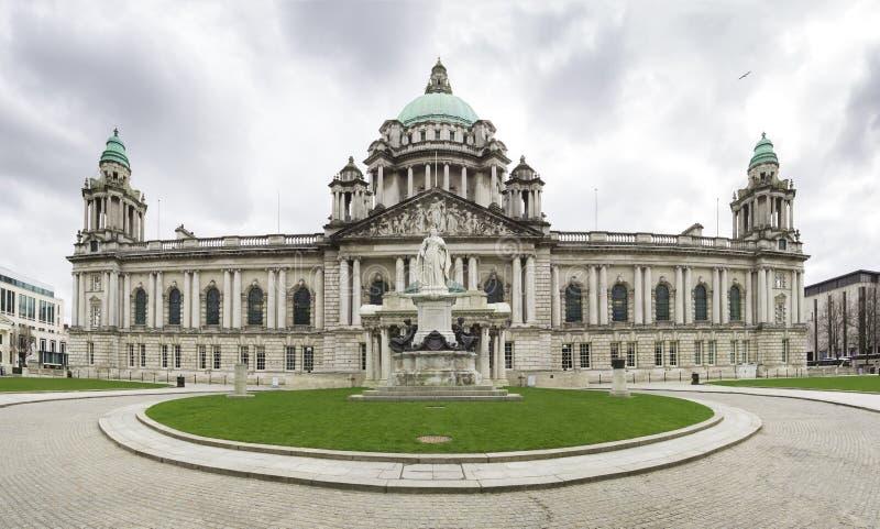 Het Stadhuis van Belfast binnen stock afbeeldingen