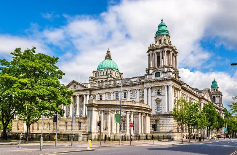 Het Stadhuis van Belfast - Noord-Ierland stock afbeelding