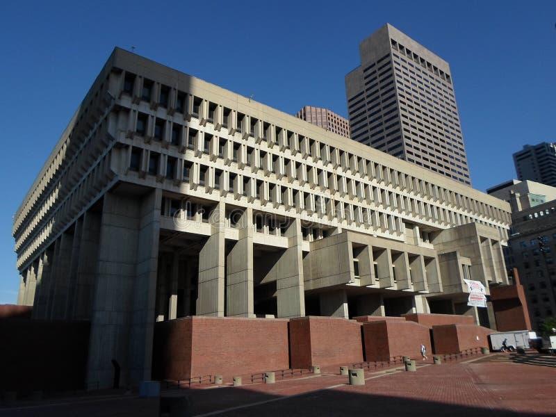 Het Stadhuis van Boston, Stad Hall Plaza, Boston, Massachusetts, de V.S. royalty-vrije stock fotografie