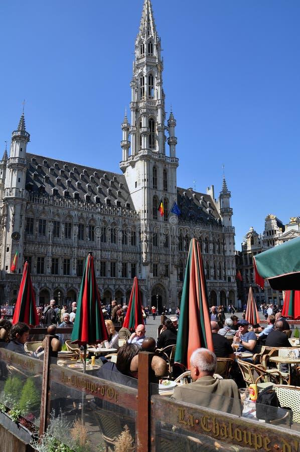 Het stadhuis van Brussel, België stock afbeelding