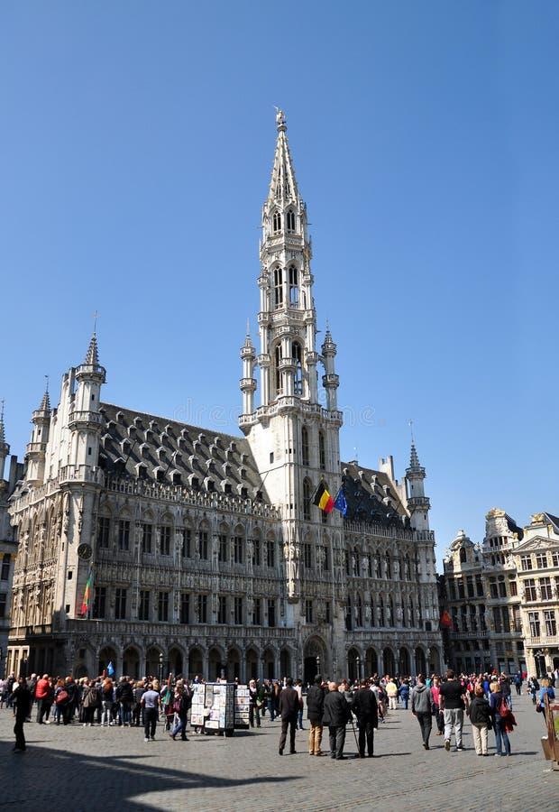 Het stadhuis van Brussel, België stock fotografie