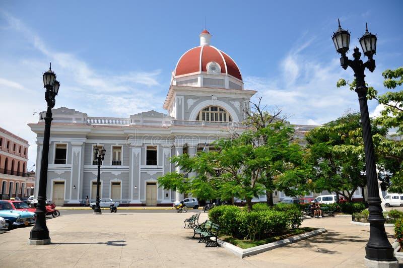 Het stadhuis van Cienfuegos stock afbeelding