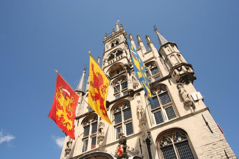 Het Stadhuis van Gouda stock foto