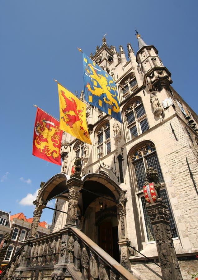Het Stadhuis van Gouda royalty-vrije stock foto's