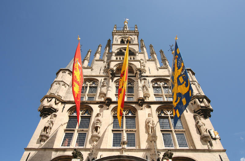 Het Stadhuis van Gouda stock fotografie