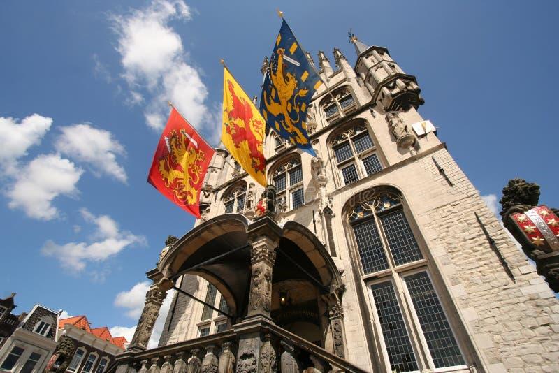 Het Stadhuis van Gouda stock afbeelding