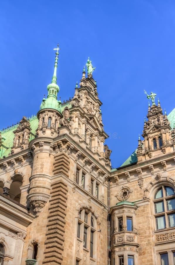 Het Stadhuis van Hamburg royalty-vrije stock afbeelding
