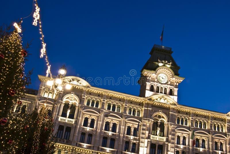 Het Stadhuis van Kerstmis stock afbeelding