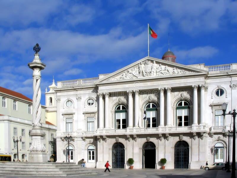 Het stadhuis van Lissabon stock afbeelding