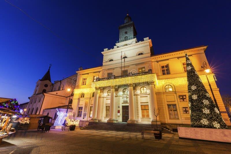 Het Stadhuis van Lublin stock afbeeldingen