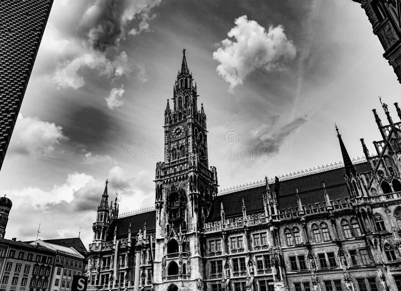 Het stadhuis van München stock afbeeldingen