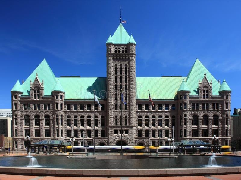 Het Stadhuis van Minneapolis stock foto's