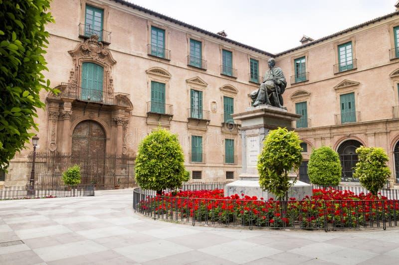 Het Stadhuis van Murcia, Spanje stock afbeeldingen