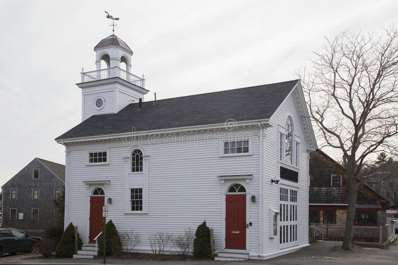 Het stadhuis van New England op overzees, dichtbij Glouchester, Massachusetts, de V.S. stock foto's