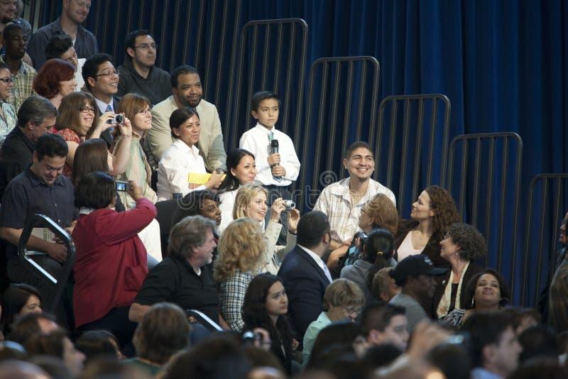 Het Stadhuis van Obama royalty-vrije stock foto's