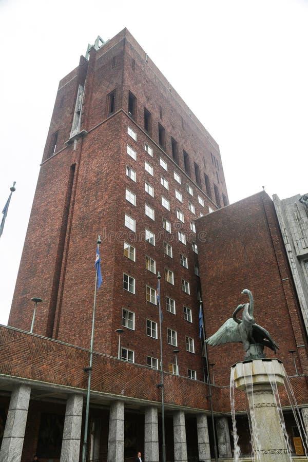 Het Stadhuis van Oslo royalty-vrije stock foto
