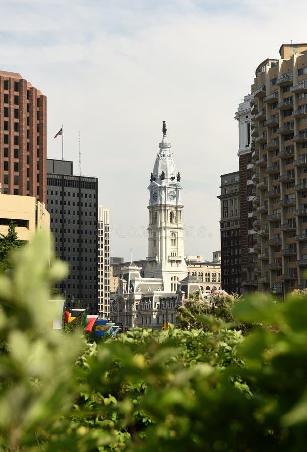 Het Stadhuis van Philadelphia binnen de stad in van Philadelphia, PA, de V.S. stock foto