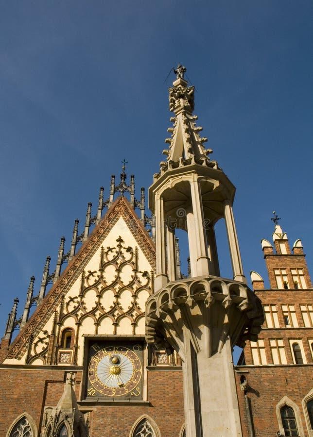 Het Stadhuis van Polen Wroclaw royalty-vrije stock fotografie