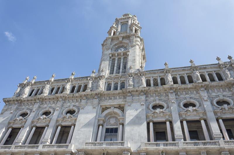 Het Stadhuis van Porto, Portugal royalty-vrije stock afbeeldingen