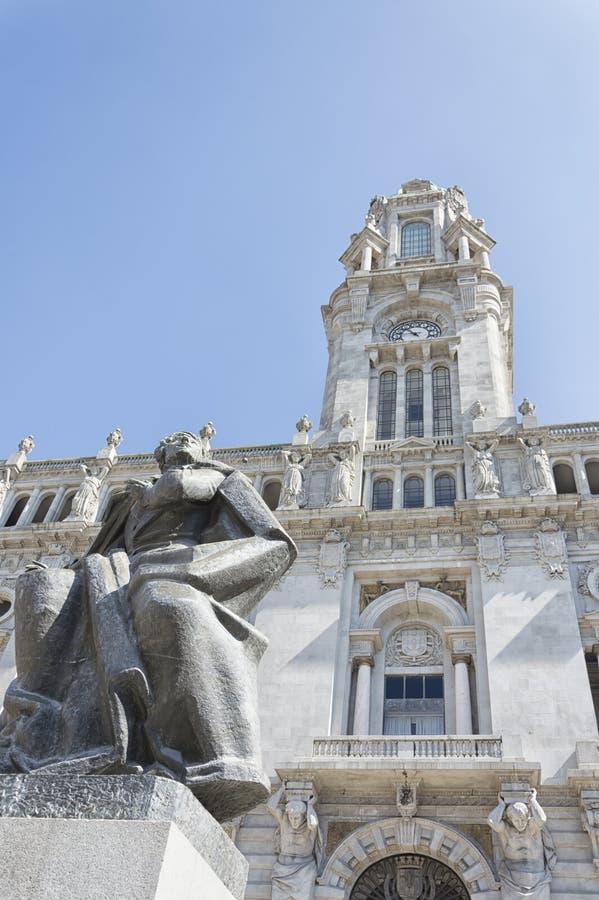 Het Stadhuis van Porto, Portugal royalty-vrije stock afbeelding