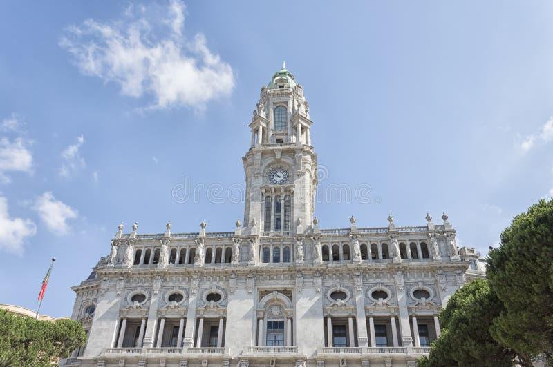 Het Stadhuis van Porto, Portugal stock afbeelding