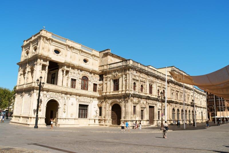 Het Stadhuis van Sevilla, Spanje royalty-vrije stock afbeeldingen