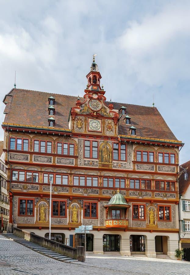 Het stadhuis van Tübingen, Duitsland stock afbeeldingen