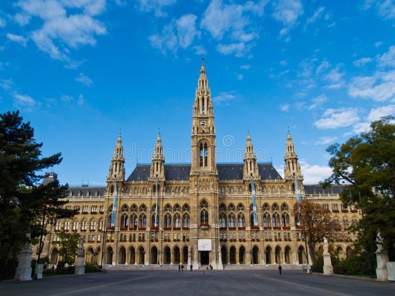 Het stadhuis van Wenen stock foto