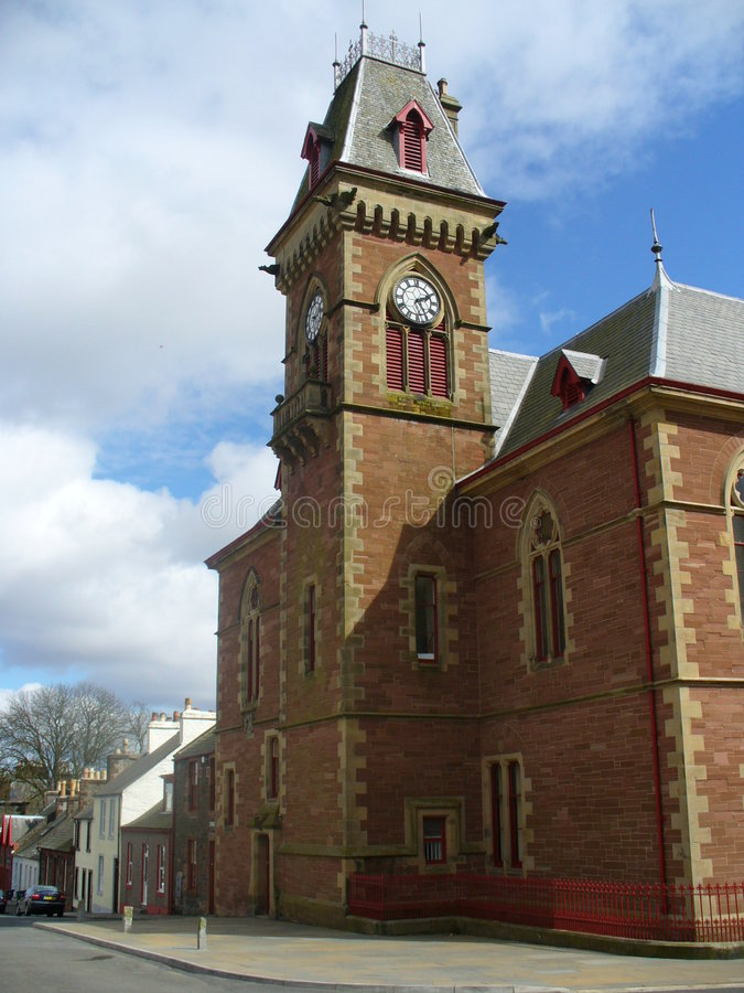 Het Stadhuis van Wigtown royalty-vrije stock afbeeldingen