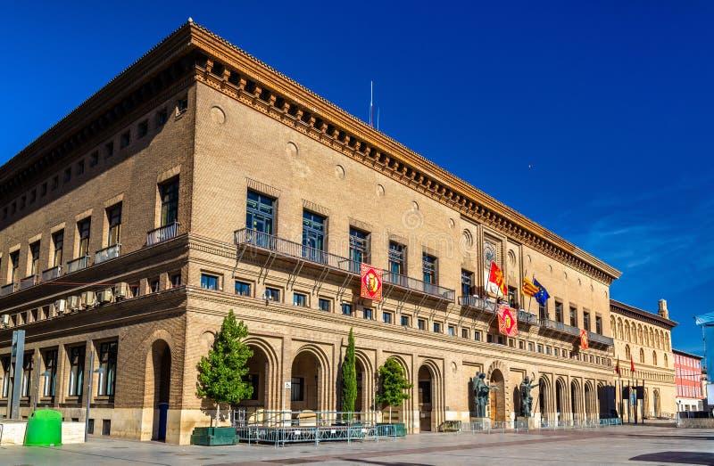 Het Stadhuis van Zaragoza - Spanje, Aragon stock fotografie