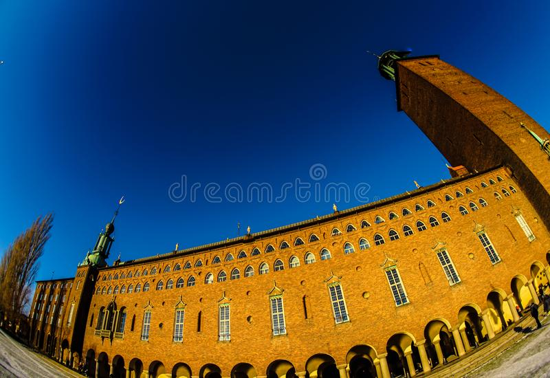 Het Stadhuis Zweden van Stockholm royalty-vrije stock fotografie