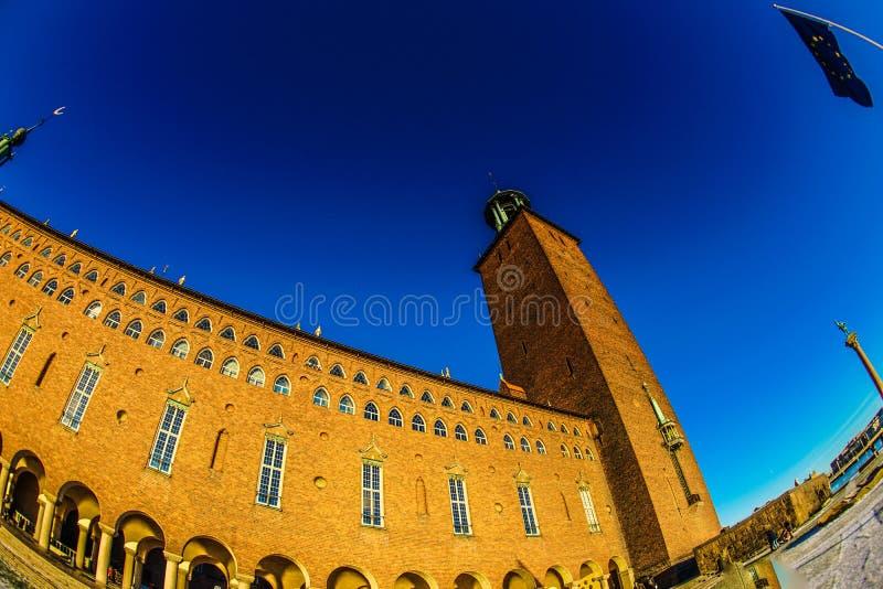 Het Stadhuis Zweden van Stockholm stock foto's
