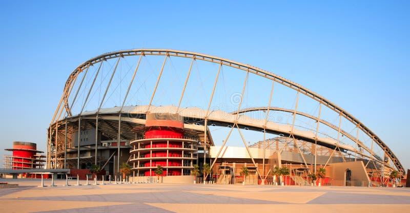 Het stadion Doha Qatar van Khalifa royalty-vrije stock afbeelding
