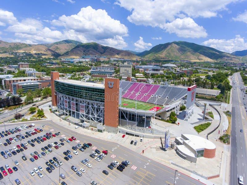 """Het Stadion luchtmening Salt Lake City, Utah, de V.S. van Rice†""""Eccles royalty-vrije stock afbeeldingen"""