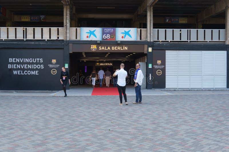 Het stadion van ampèrenou, Barcelona, Spanje - 2 September 2018 stock foto's